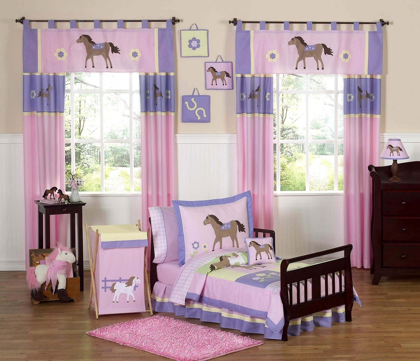 10 Nice Cute Little Girl Room Ideas girls bedroom cute horse theme in pink and purple color scheme 2020