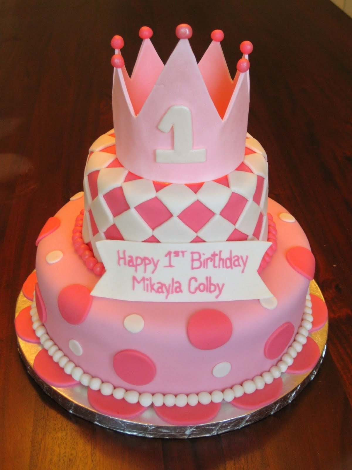 10 Beautiful 1St Birthday Cake Ideas For Girl girls custom fondant birthday cakesbest birthday cakesbest birthday 2020