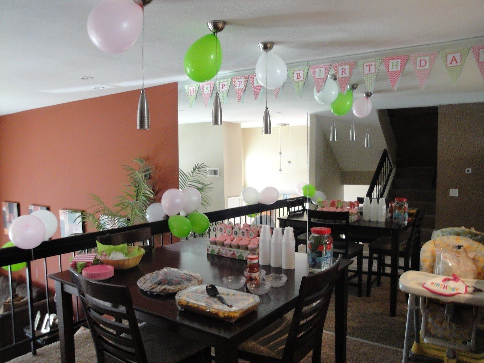 10 Beautiful Simple First Birthday Party Ideas girls first birthday party ideas pink and green owl theme party 2021