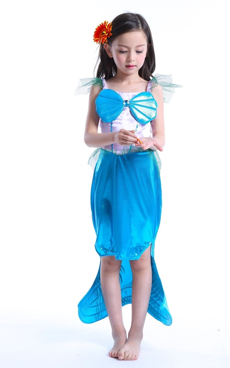 girls mermaid tail clothes sexy mermaid kids costume children fancy