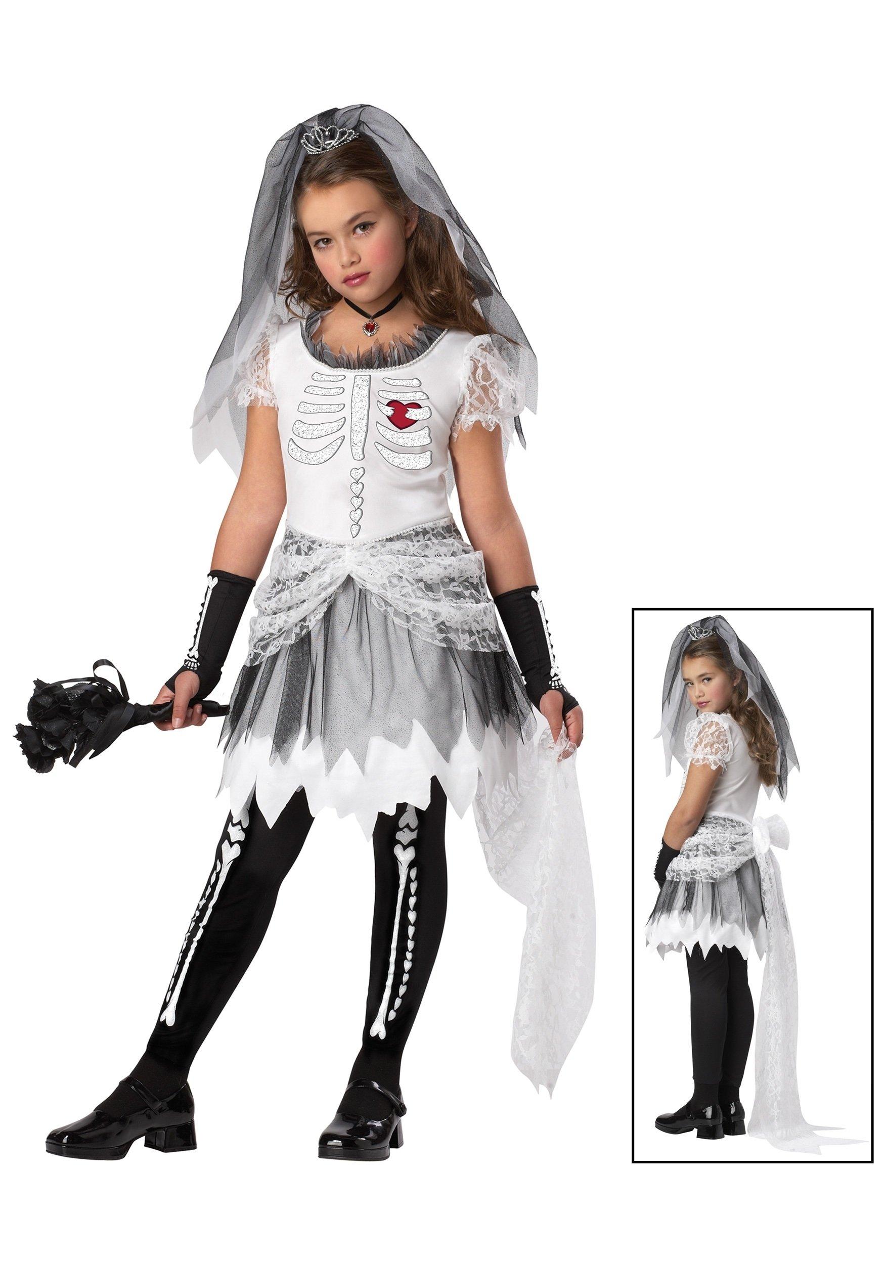 10 Fashionable Scary Costume Ideas For Girls girls skela bride costume halloween costume ideas 2016
