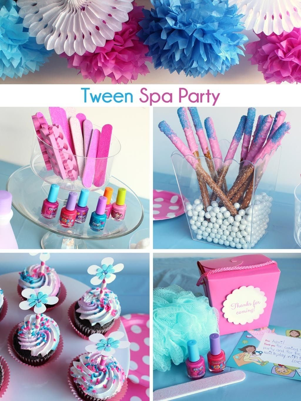 10 Most Popular Slumber Party Ideas For Tweens girls spa party favors spa party pinterest spa party favors