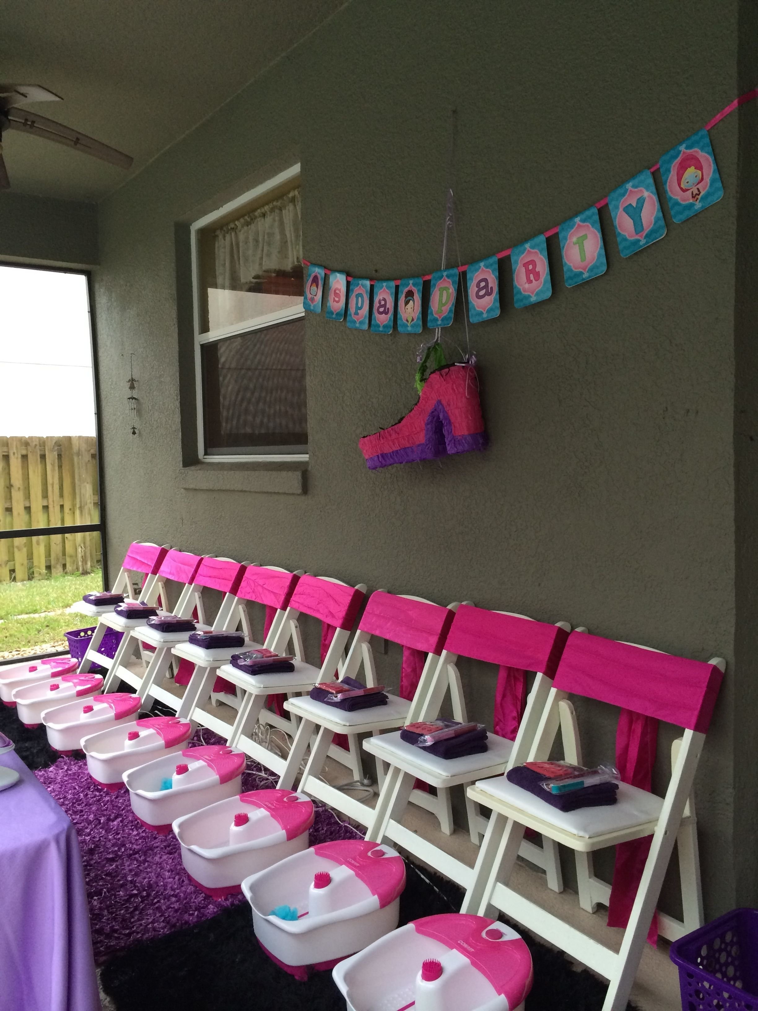 10 Nice Birthday Party Ideas For Teenage Girls 14 girls spa party pedicure station for girls girls spa party 1
