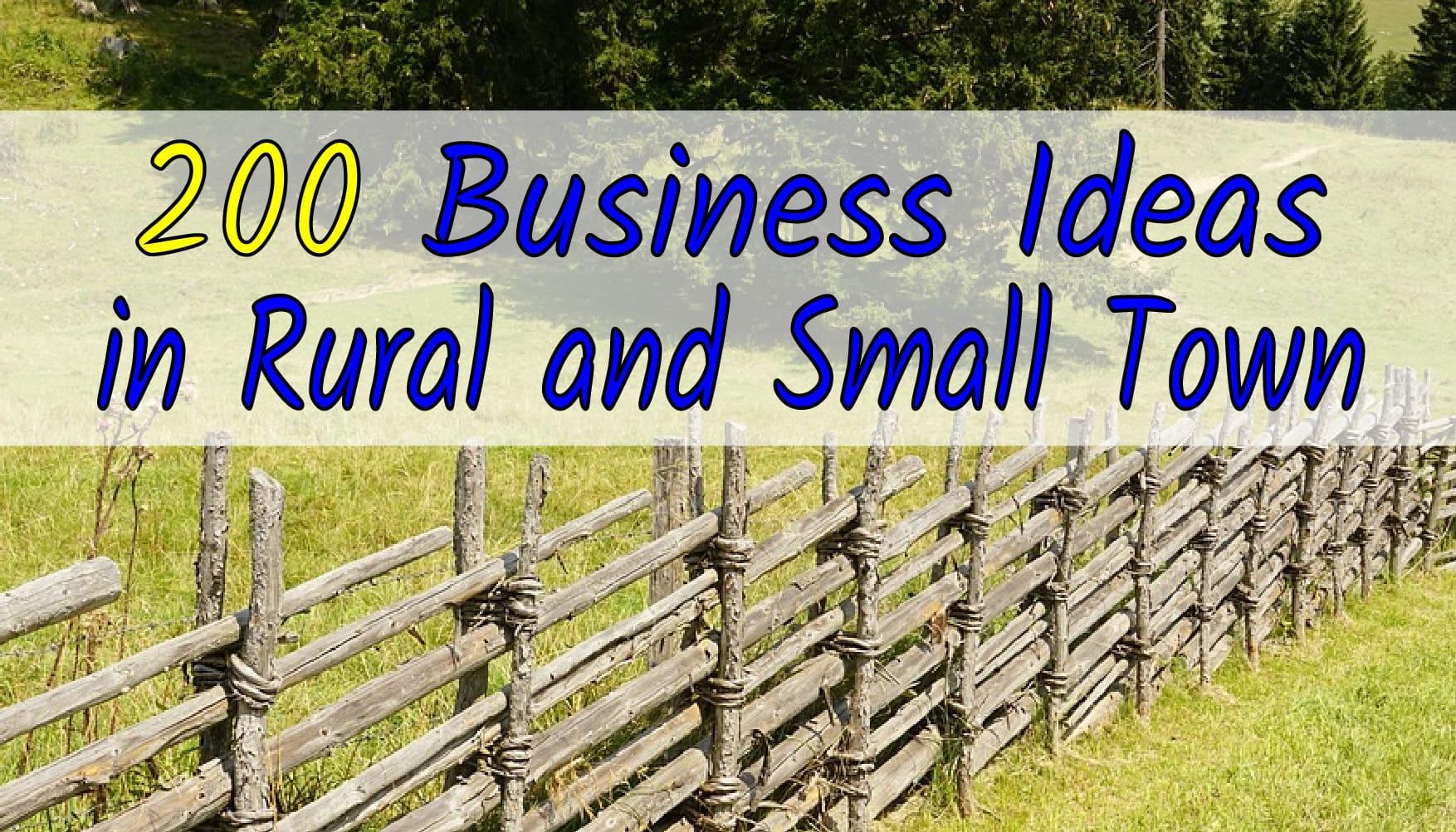 give 200 business ideas in rural areas and small townchris_tong