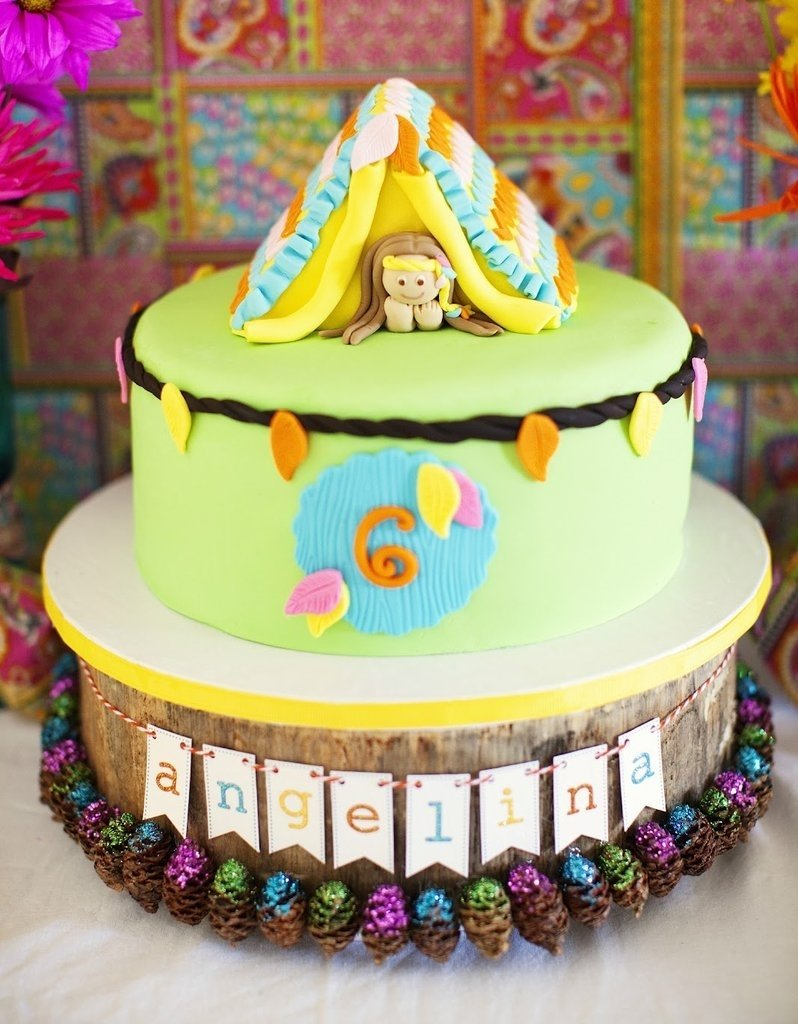 10 Great 4 Year Old Birthday Cake Ideas glamping cake girls birthday cakes popsugar moms photo 8