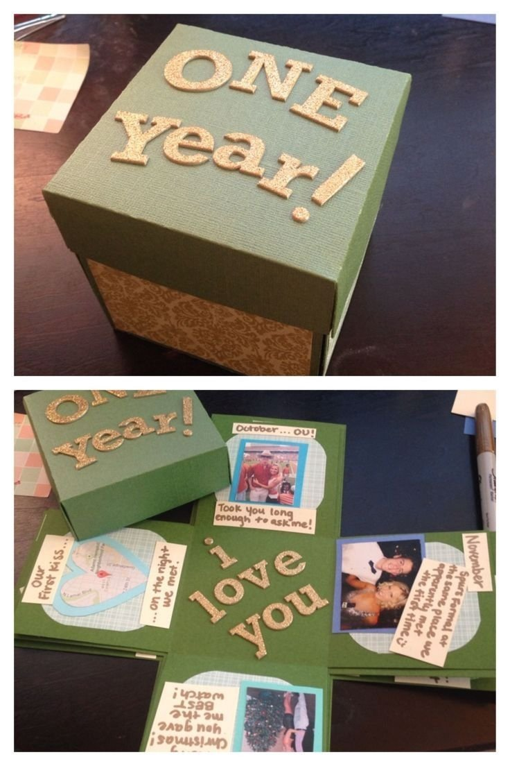 10 Unique 1 Year Anniversary Ideas Him glitter adventure exploding box class relationships 6 2021