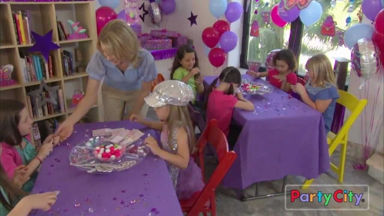 glitzy girl birthday party ideas - youtube