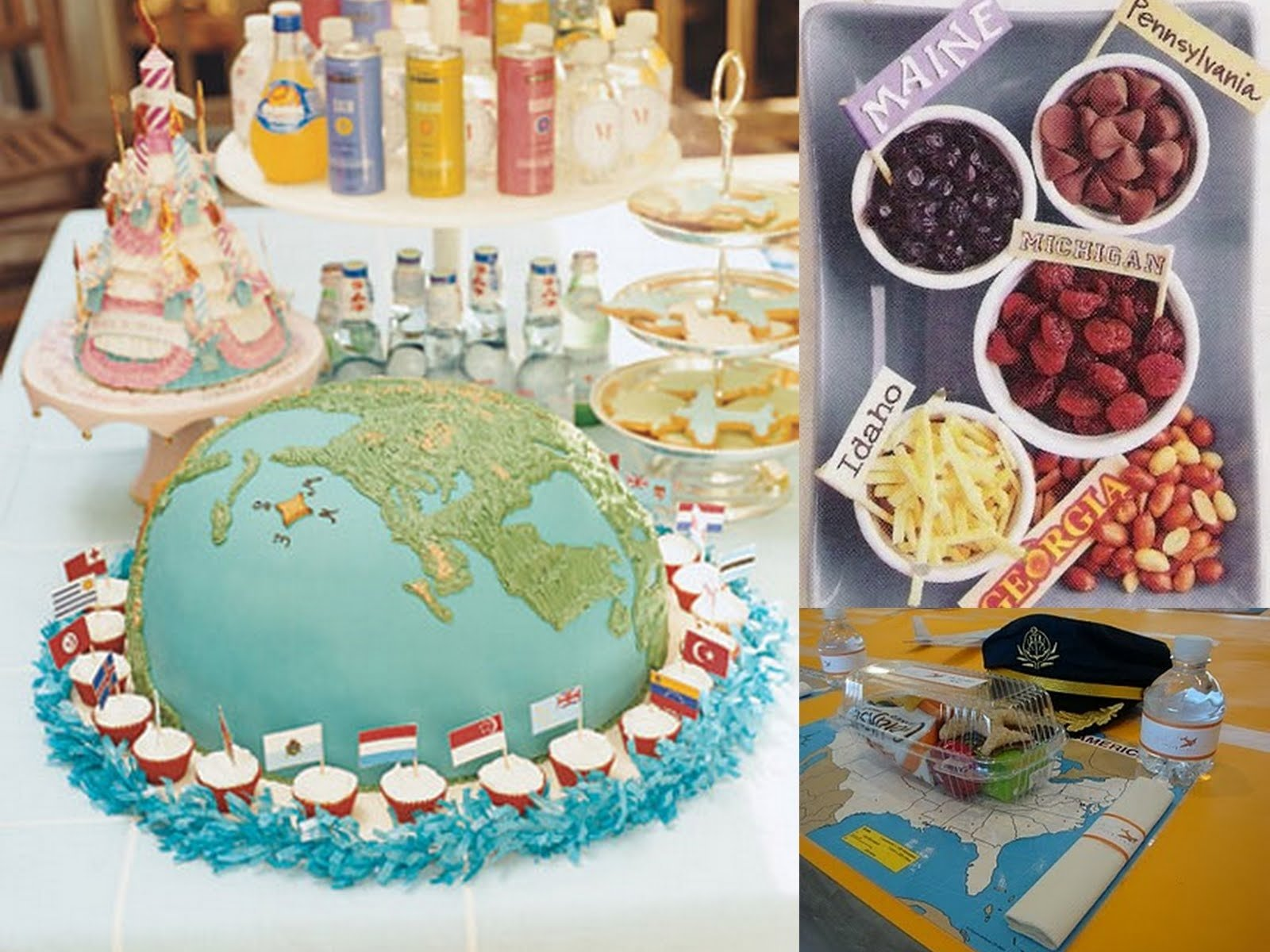 globe cake baby shower ideas martha stewart | baby shower ideas gallery