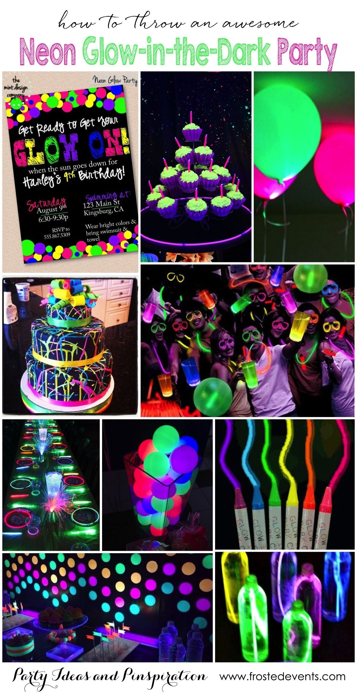 10 Fabulous Cool Teenage Birthday Party Ideas glow in the dark neon party ideas party themes for teenagers 2021