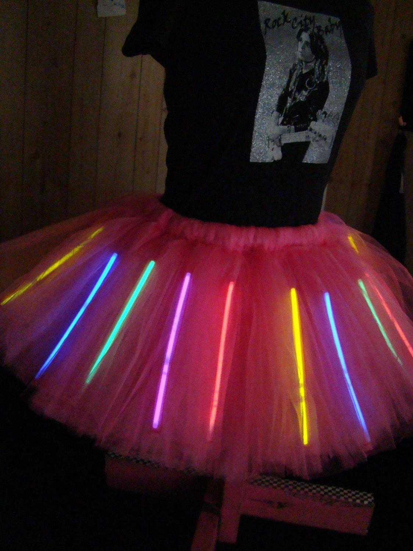 10 Trendy Glow In The Dark Outfit Ideas glowing adult l xl tutu holds glow sticks peacock tutu choose 2021