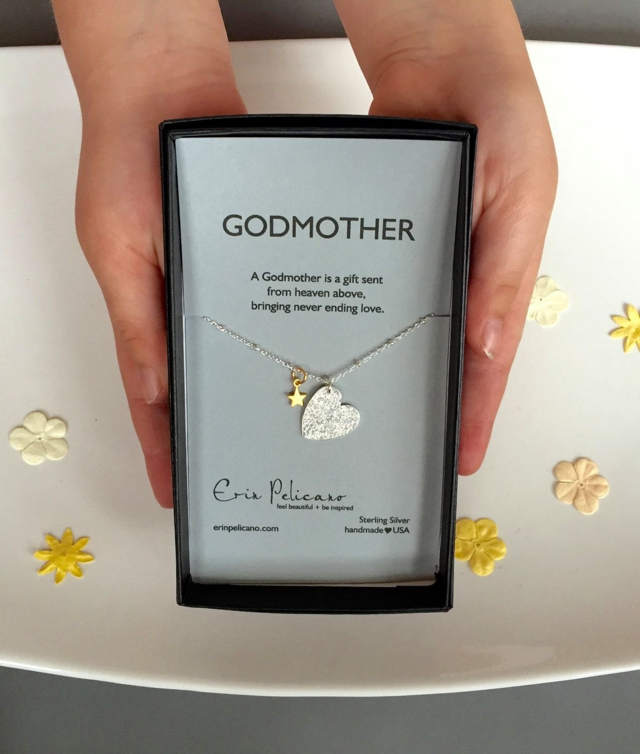 10 Spectacular Baptism Gift Ideas For Girls godmother necklace will you be my godmother gift baptism gifts 3