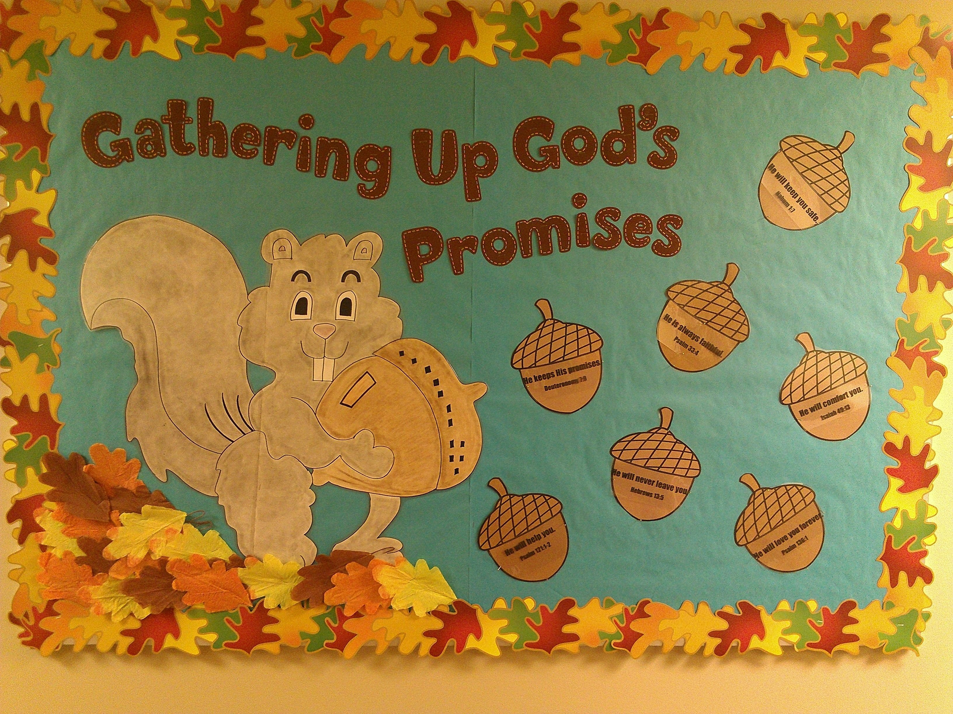 10 Best Fall Bulletin Board Ideas For Church gods promises fall bulletin board church bulletin boards 2 2020