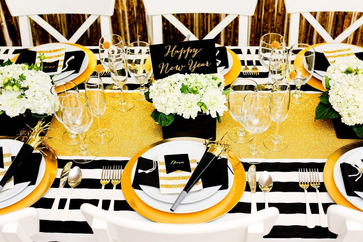 10 Lovable New Years Party Theme Ideas gold and black new years eve party evite 2