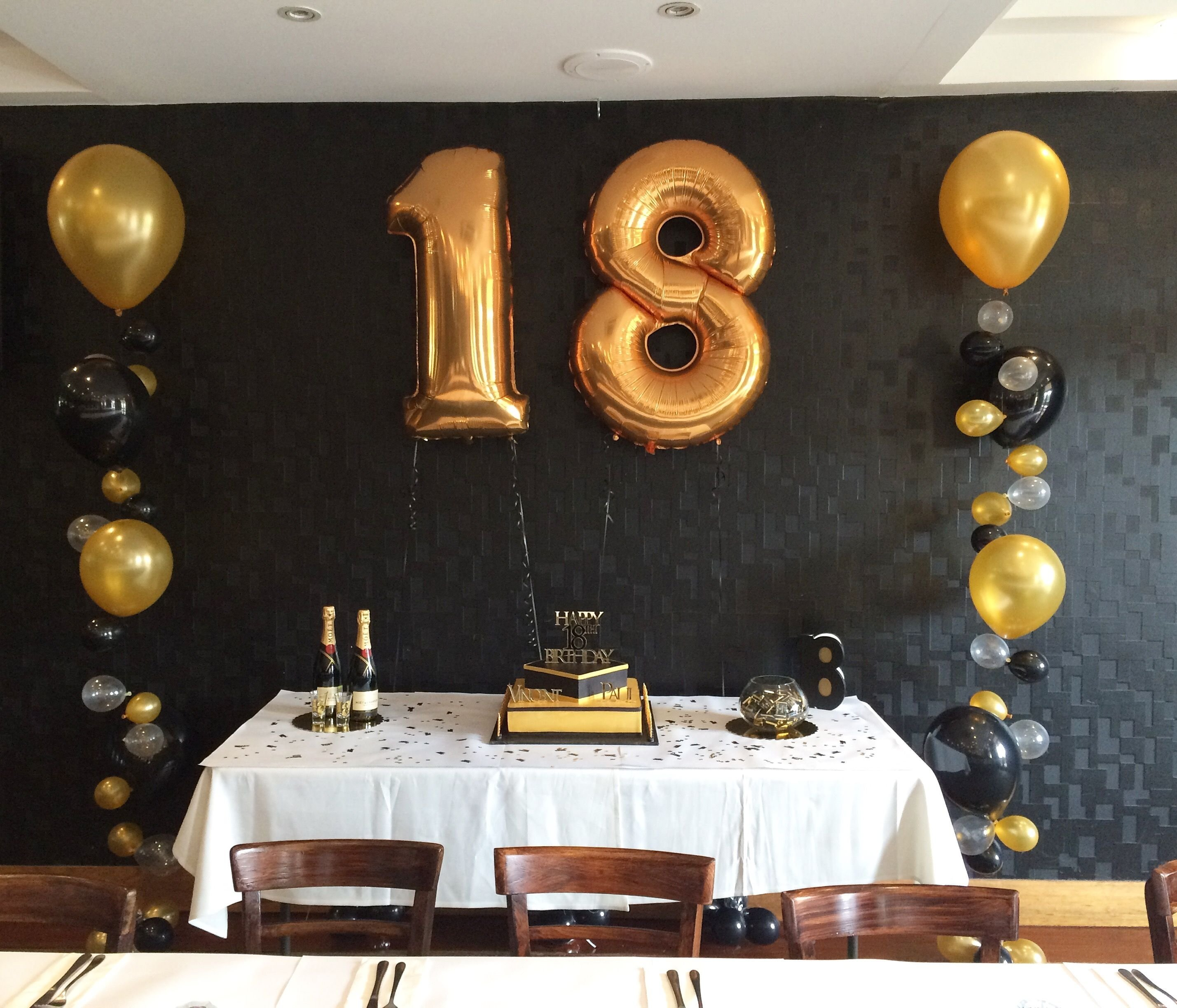 10 Fantastic Black And Gold Party Ideas gold and black themed 18th party pinteres 1