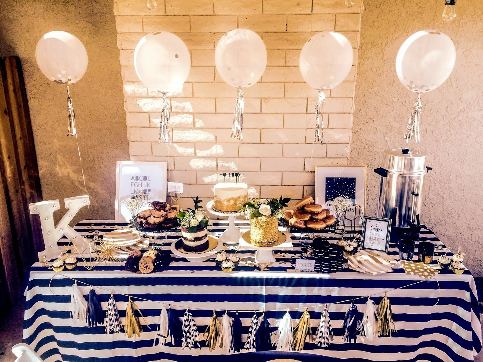 10 Great Black And White Baby Shower Ideas gold and white baby shower baby showers ideas 2021