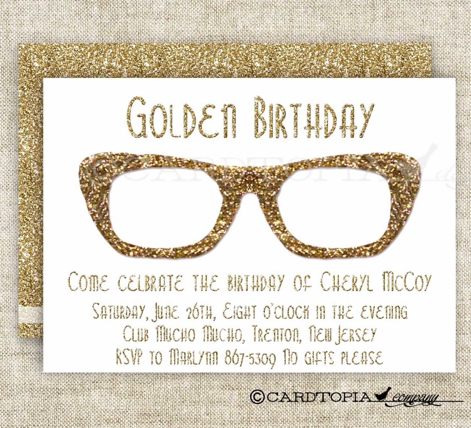 10 Fabulous Golden Birthday Ideas For Adults golden birthday card fresh hipster birthday party invitations for 2020