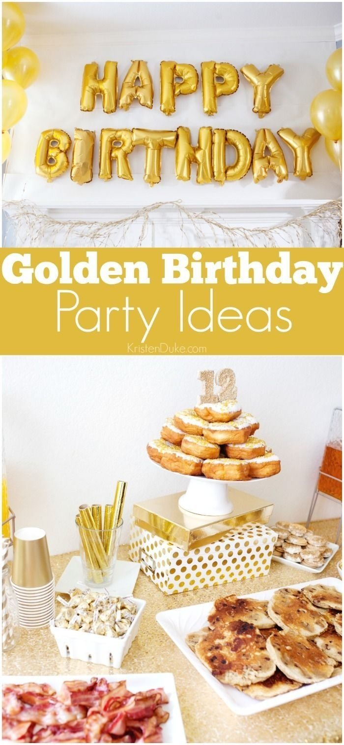 10 Unique Golden Birthday Party Ideas For Adults golden birthday party golden birthday parties golden birthday and 2021