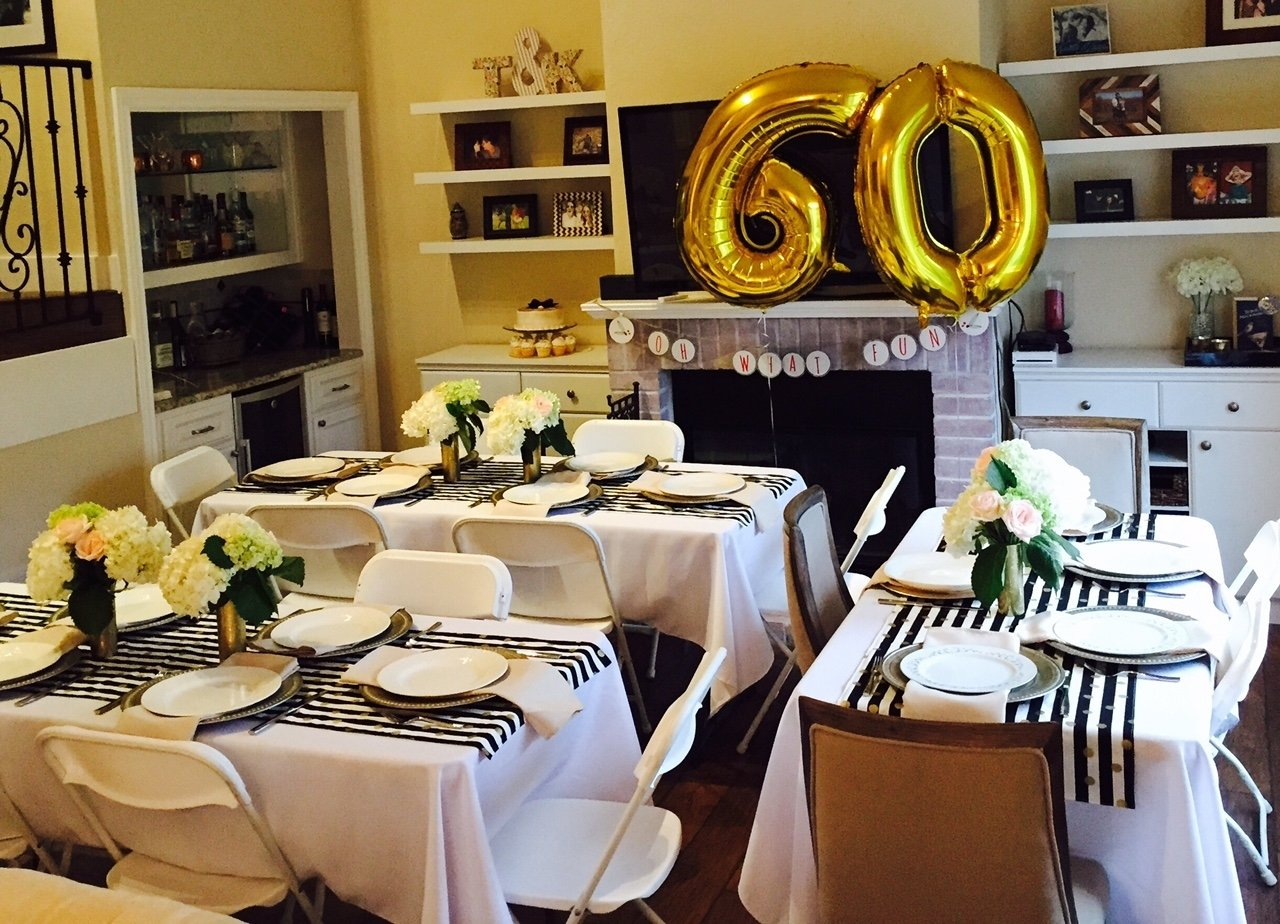 golden celebration: 60th birthday party ideas for mom - miss bizi bee