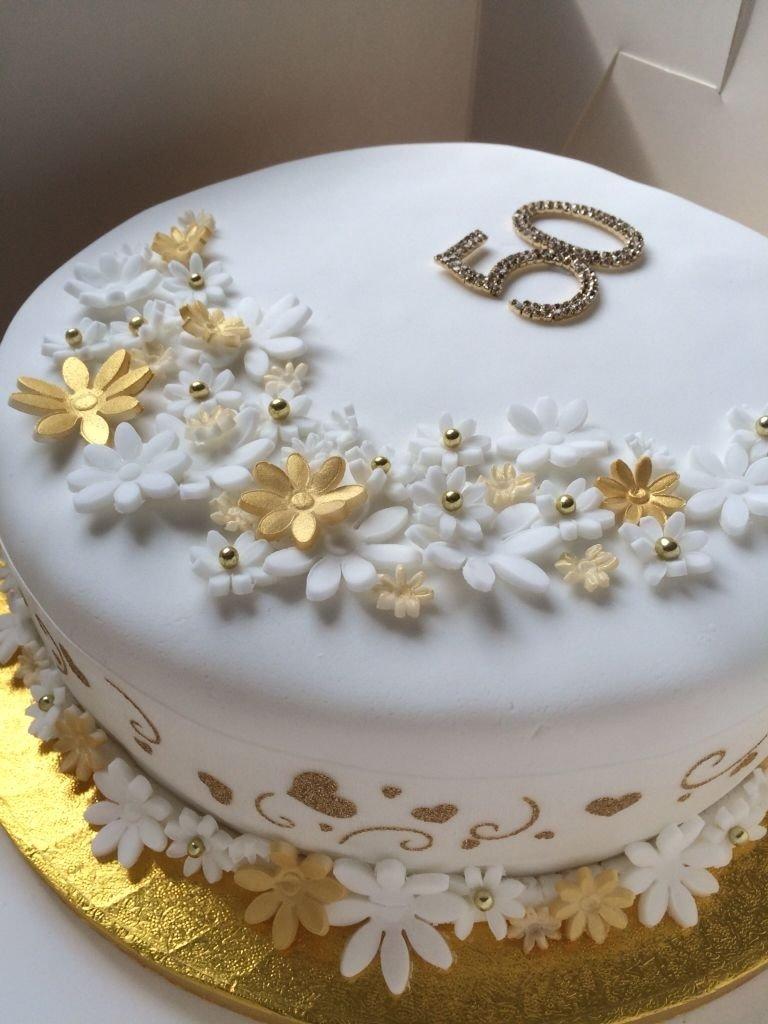 golden wedding anniversary cake. 50 years of marriage celebration