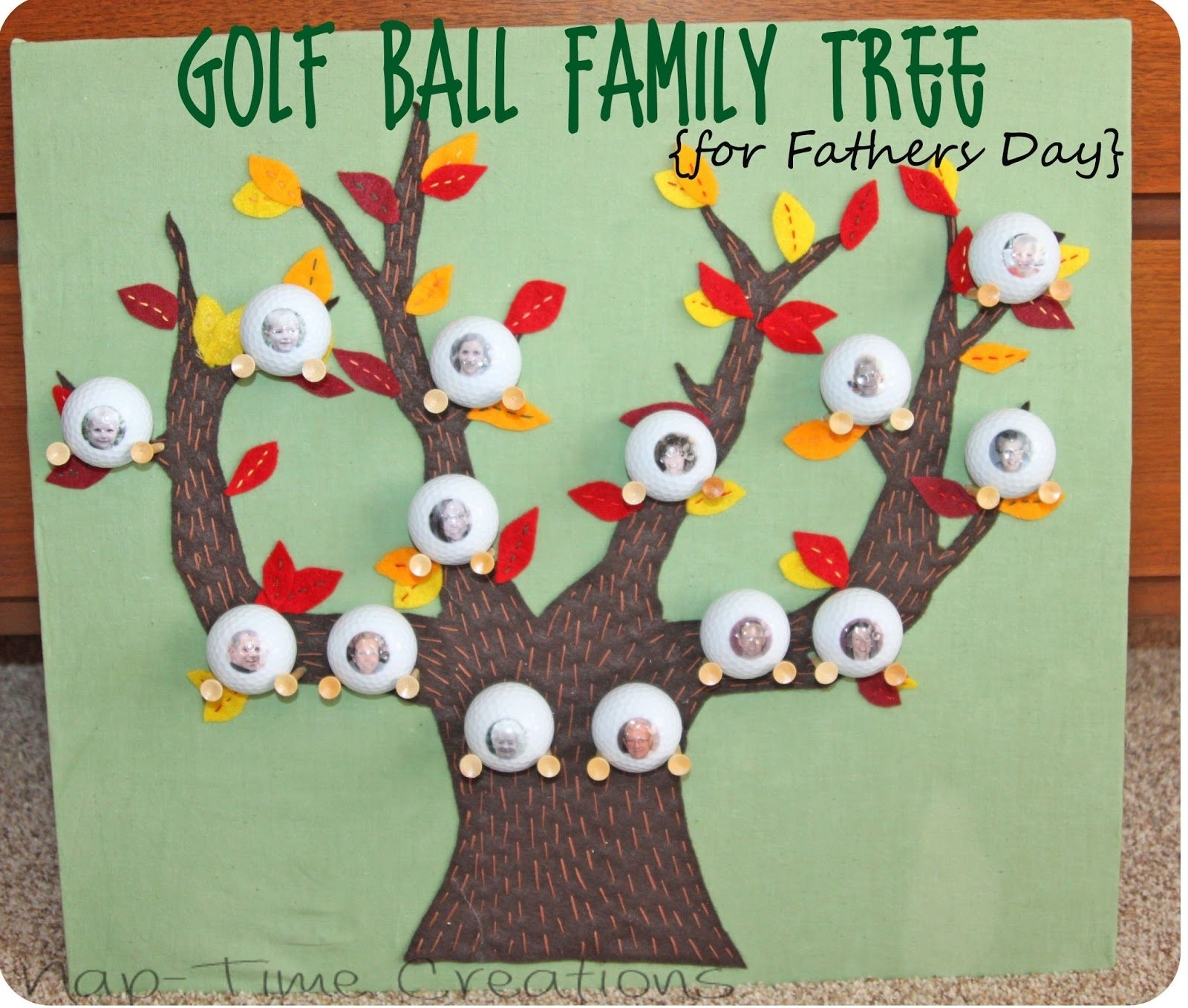 10 Stunning Family Tree Ideas For Kids golf ball family tree fathers day gift idea nap time creations 2