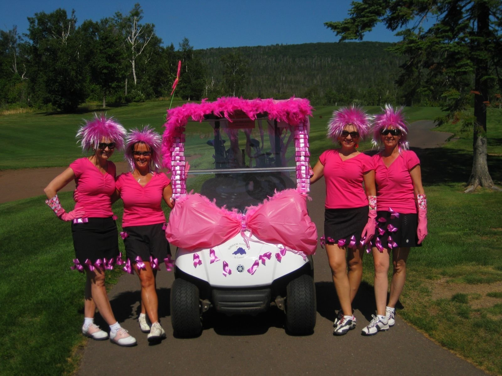 10 Awesome Breast Cancer Awareness Outfit Ideas golf cart decoration play for pink golf ideas pinterest golf 2020