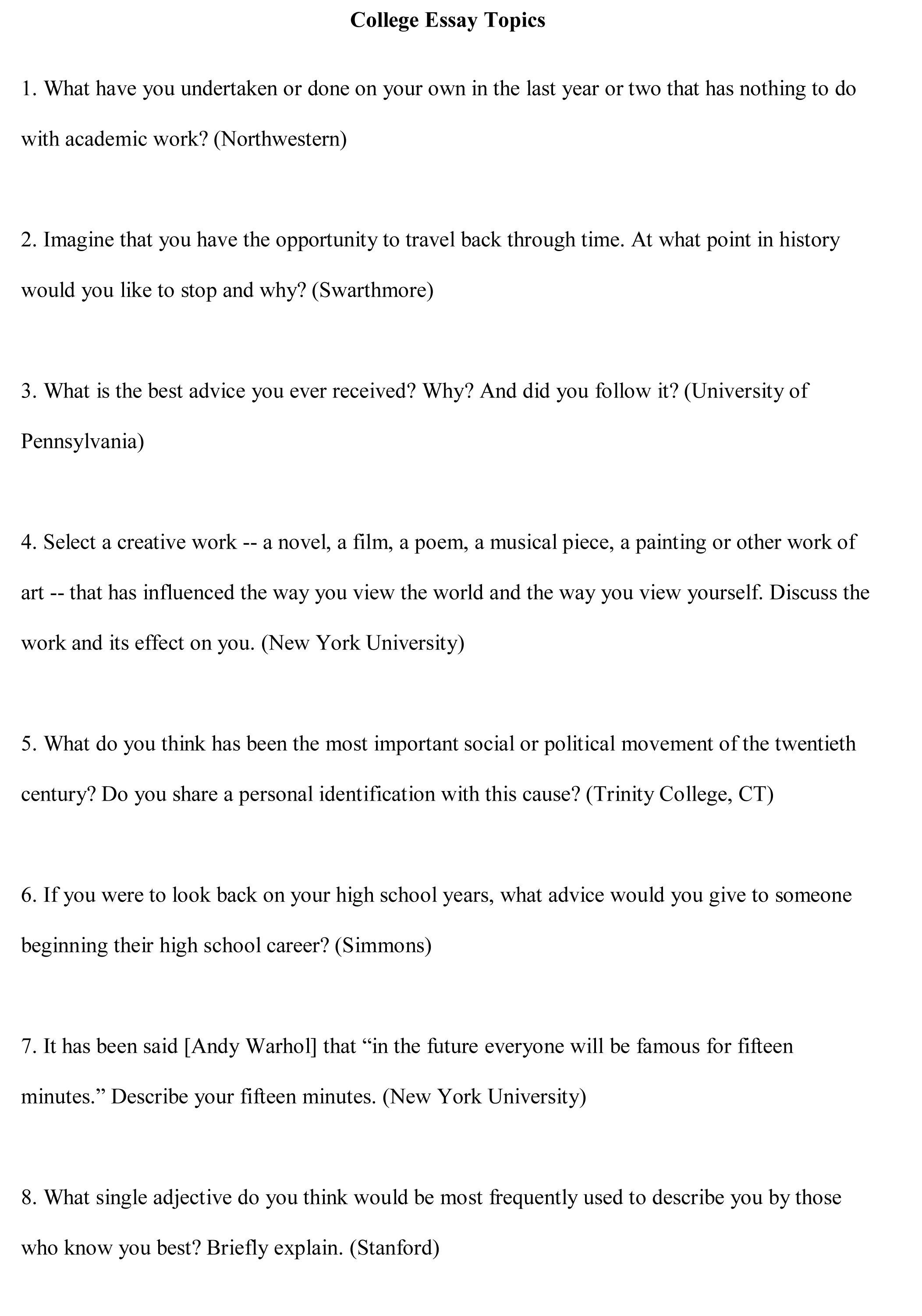 topics to do a speech on