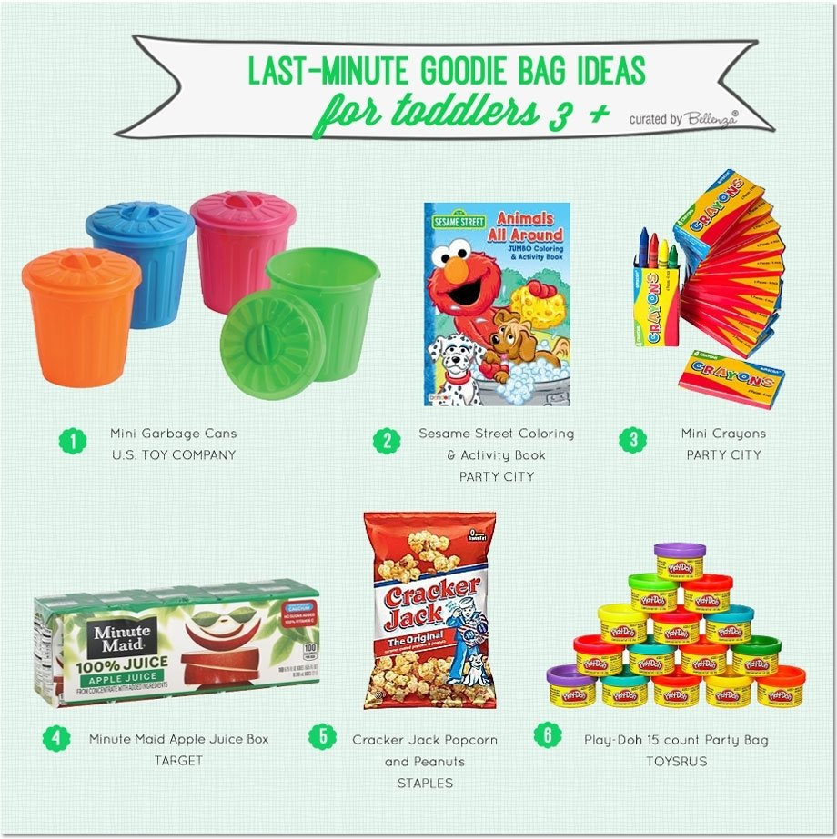 goodie bags for kids: last-minute ideas for kids 3 and up!