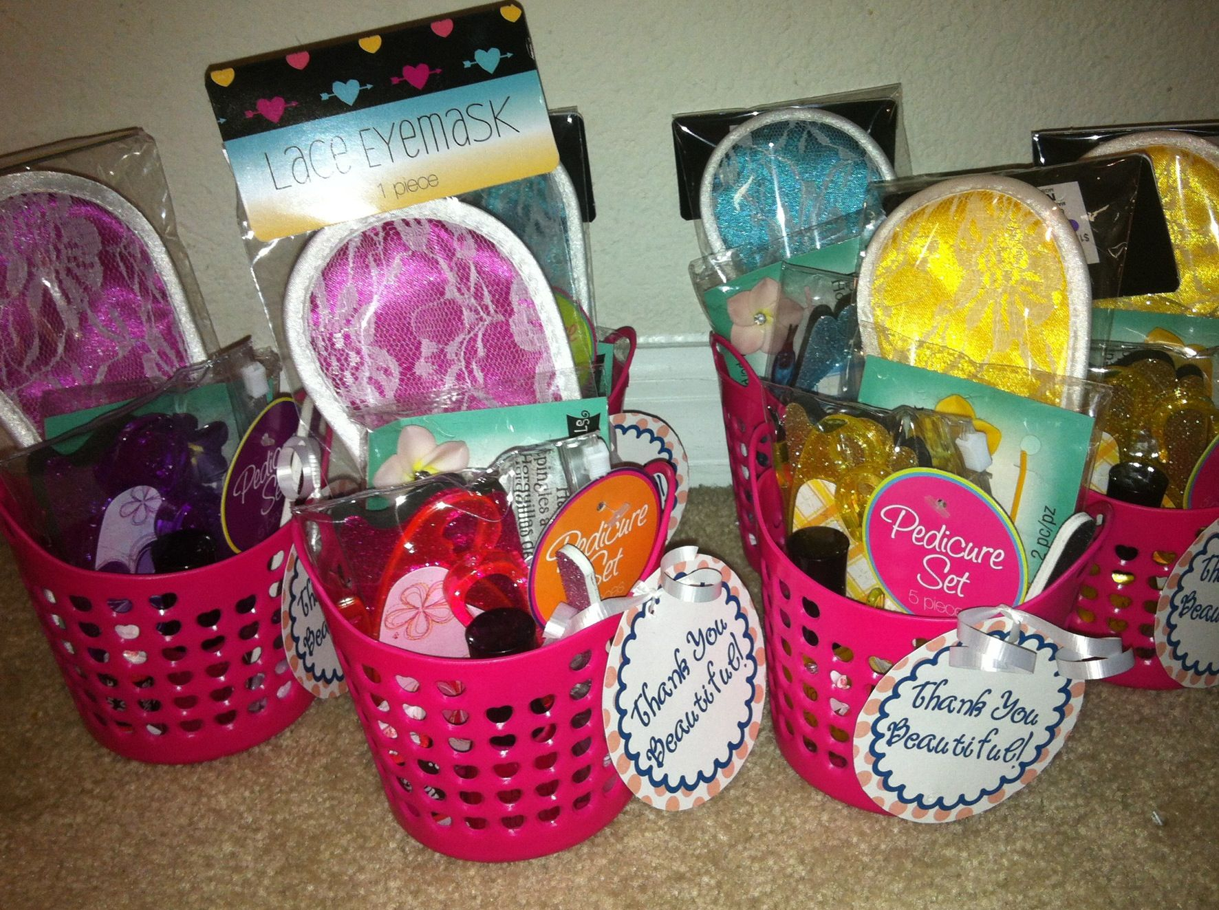 goodie bags for the girls | genesis spa party | preteen birthday