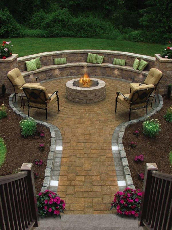 gorgeous 35 beautiful chic backyard ideas with fire pits https