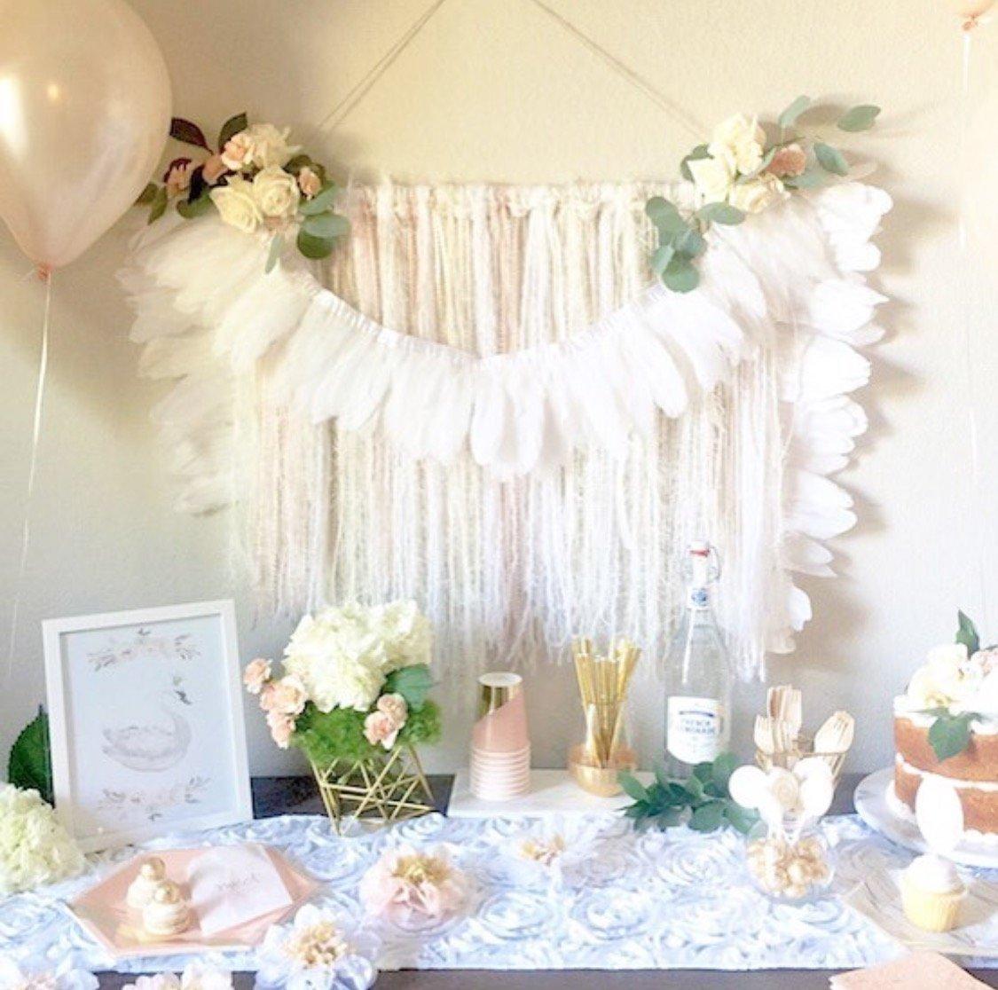 10 Wonderful All White Birthday Party Ideas gorgeous all white boho swan party swan parties pinterest 2020