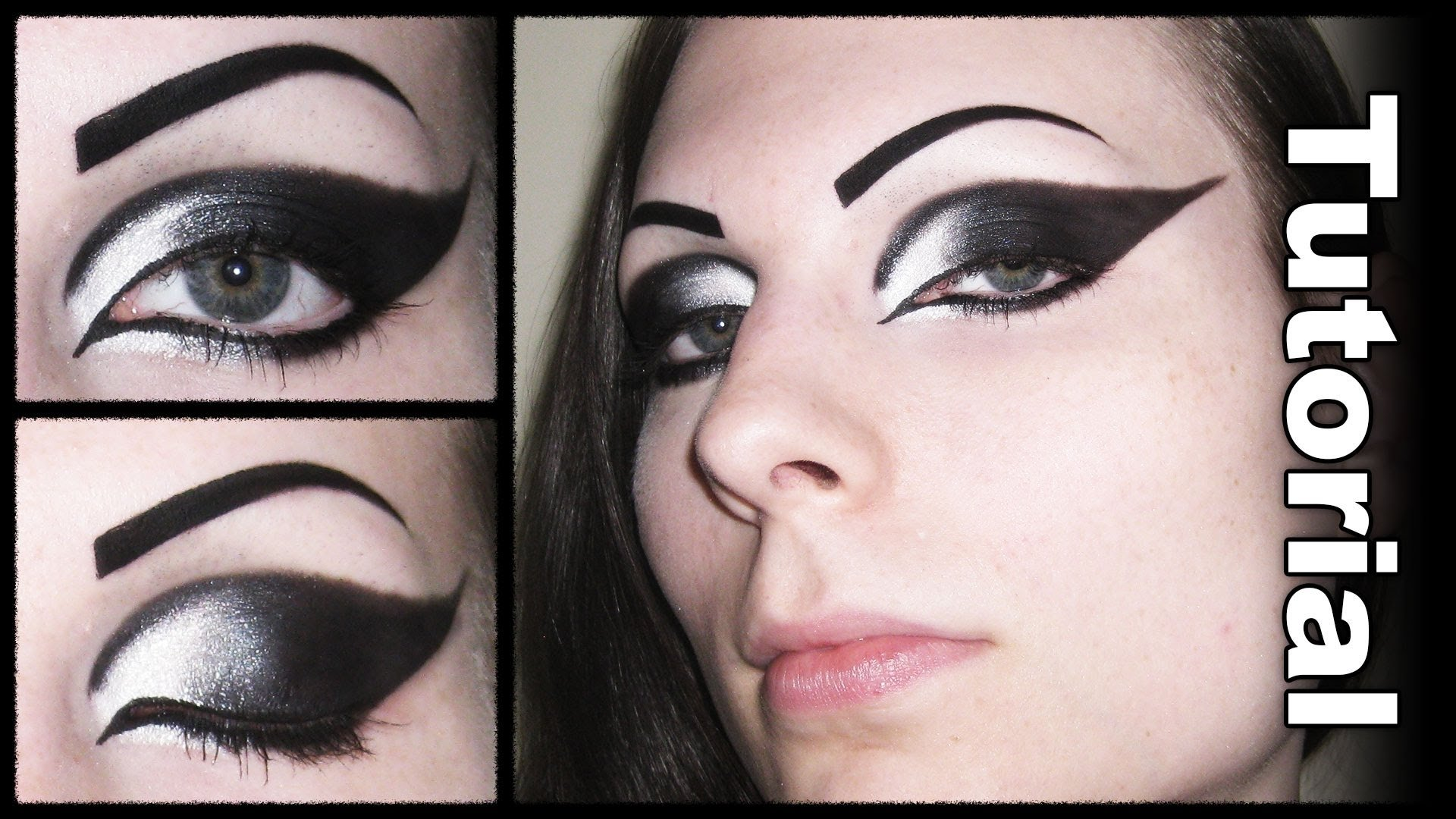 10 Perfect Black And White Makeup Ideas goth eye makeup face makeup ideas 2020