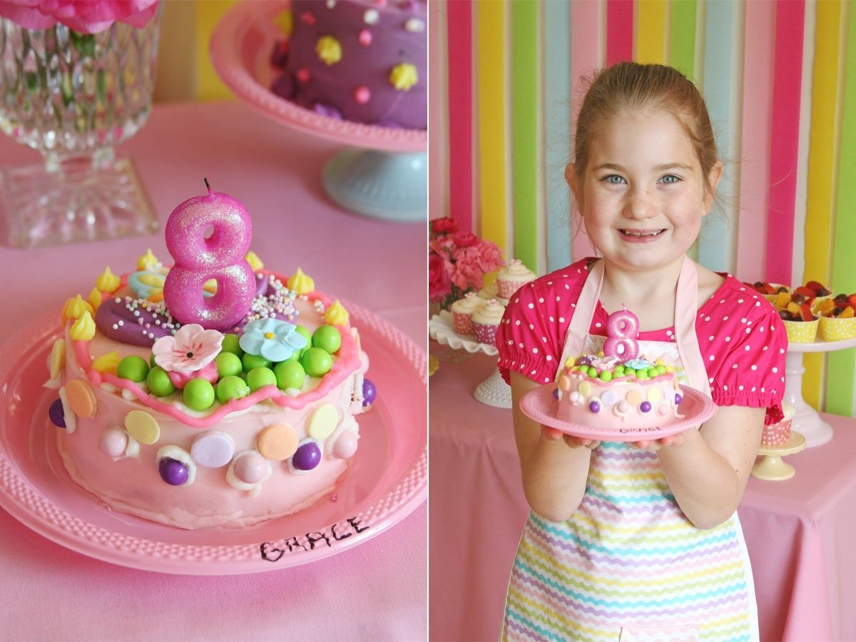 grace's cake decorating party – glorious treats