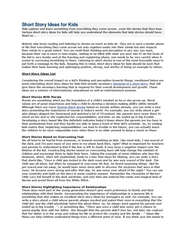 10 Beautiful Good Story Ideas For Kids grade 8 short story ideasjennifer strumfeld issuu 2021