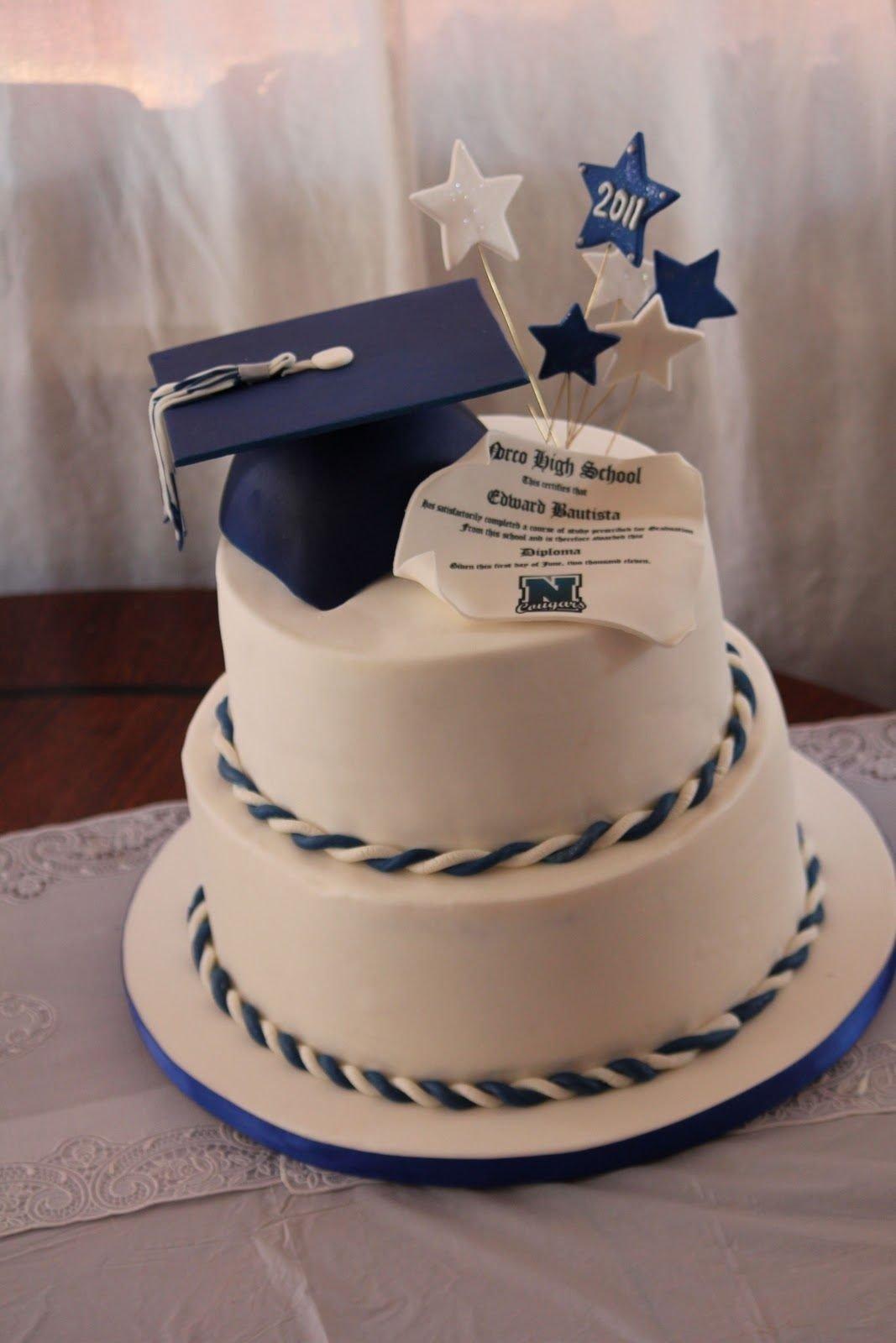 10 Nice Graduation Cake Ideas For Guys