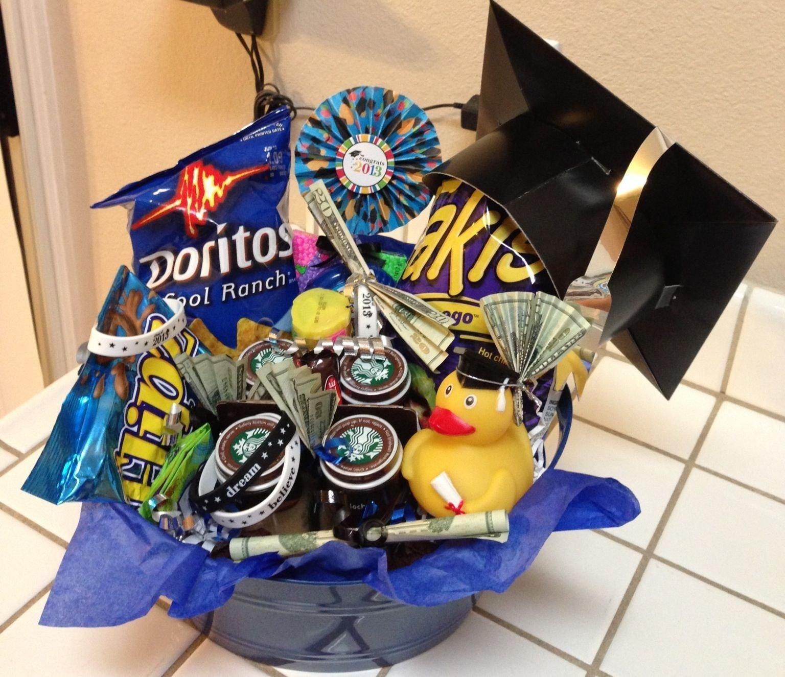 10 Wonderful Graduation Gift Ideas For Son graduation gift basket for 8th grader gift baskets pinterest 2 2021