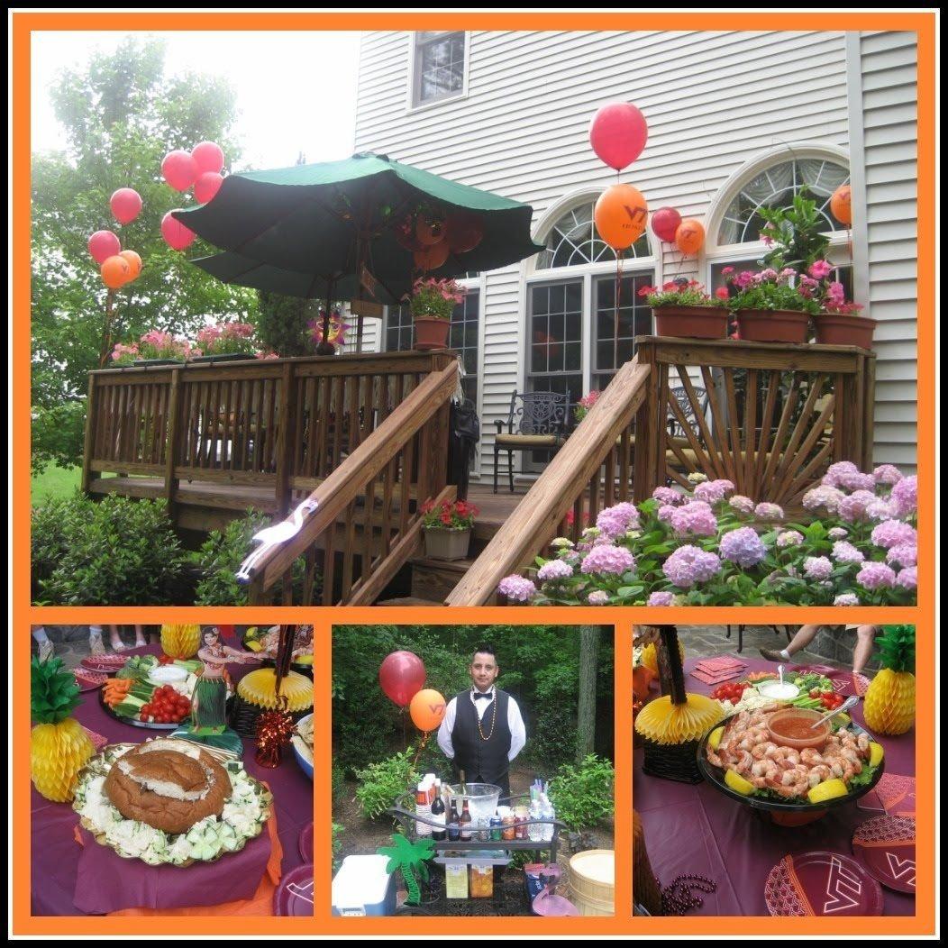 10 Awesome Graduation Open House Food Ideas graduation party food showcase hokie luau graduation party 2020