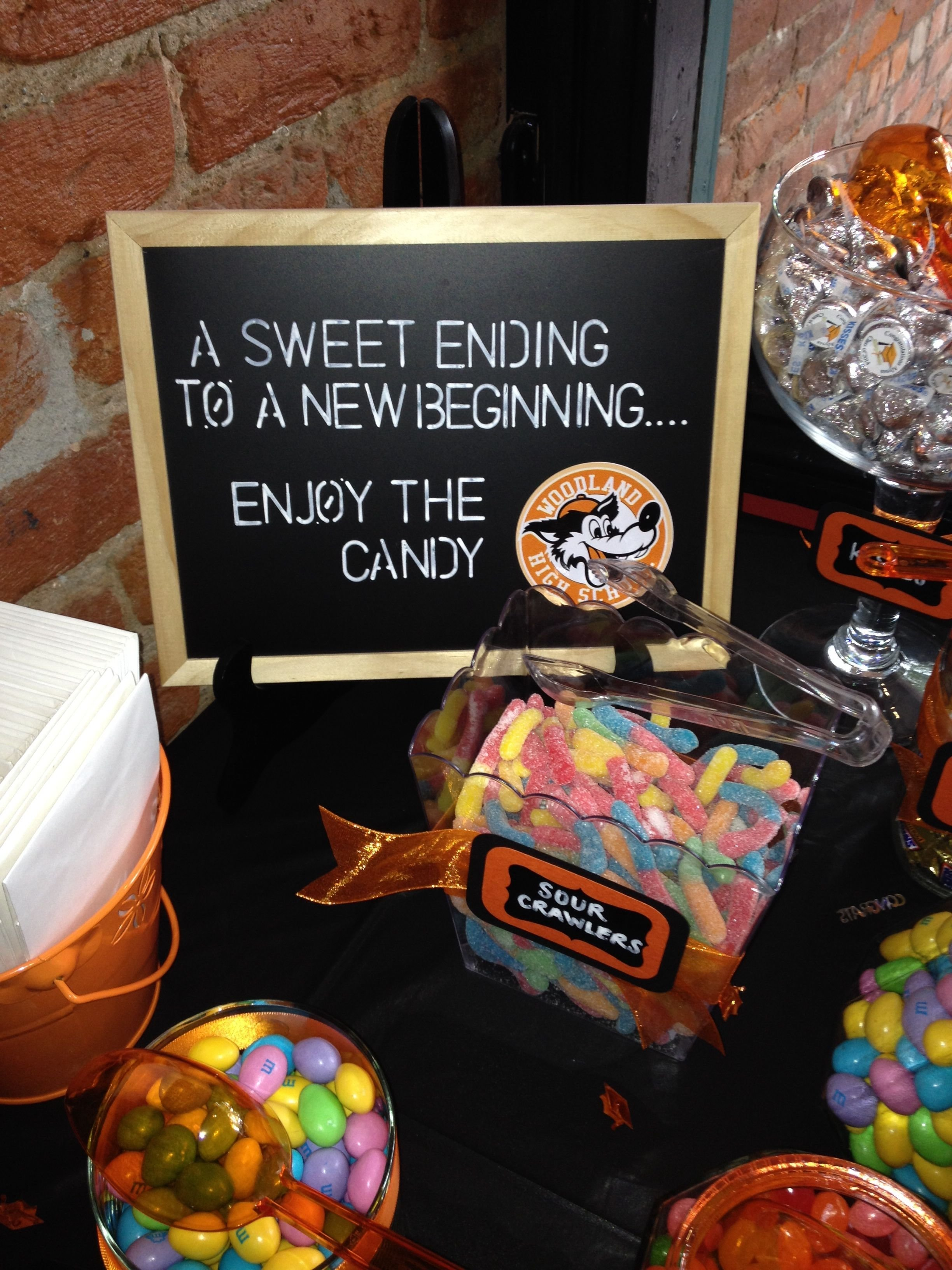 10 Spectacular 8Th Grade Graduation Party Ideas graduation party ideas candy bar sign graduation decorations 4