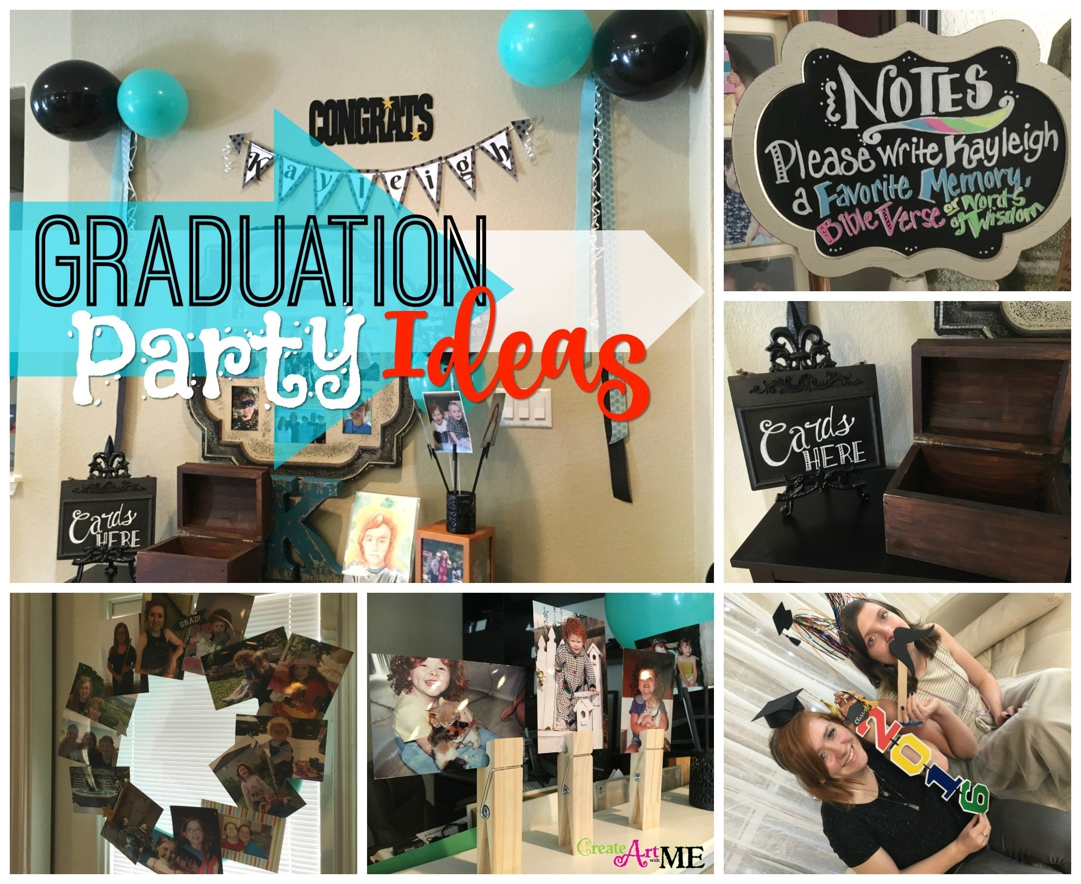 10 Trendy Ideas For A Graduation Party graduation party ideas create art with me