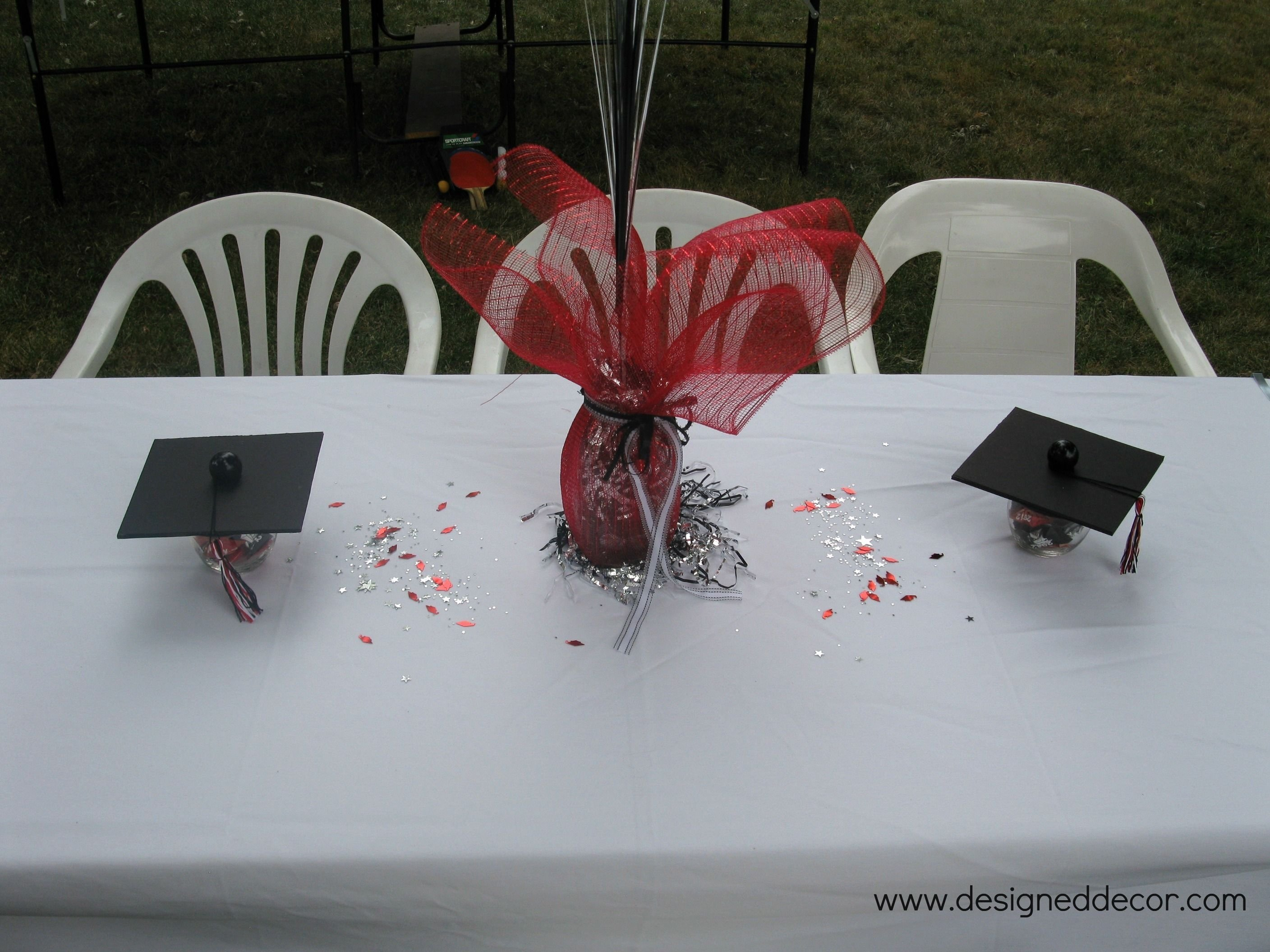 10 Most Popular Graduation Party Table Centerpiece Ideas graduation party putting it all together graduation centerpiece
