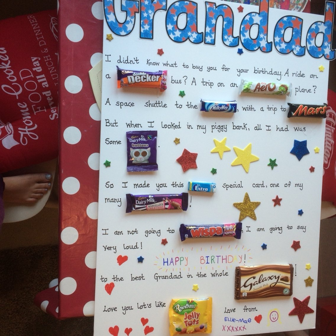 10 Lovely Birthday Gift Ideas For Grandpa grandad diy chocolate birthday card cards pinterest chocolate 2020