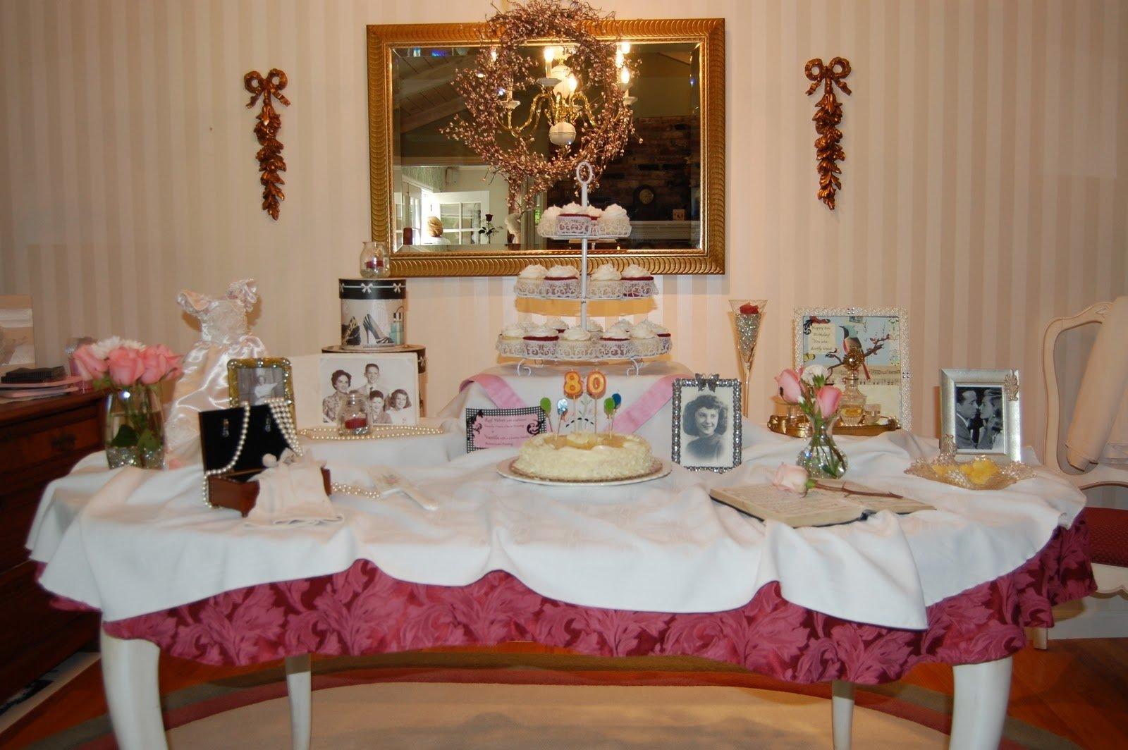 10 Unique 80Th Birthday Party Ideas For Mom grandmas vintage 80th birthday michaela noelle designs 1 2020