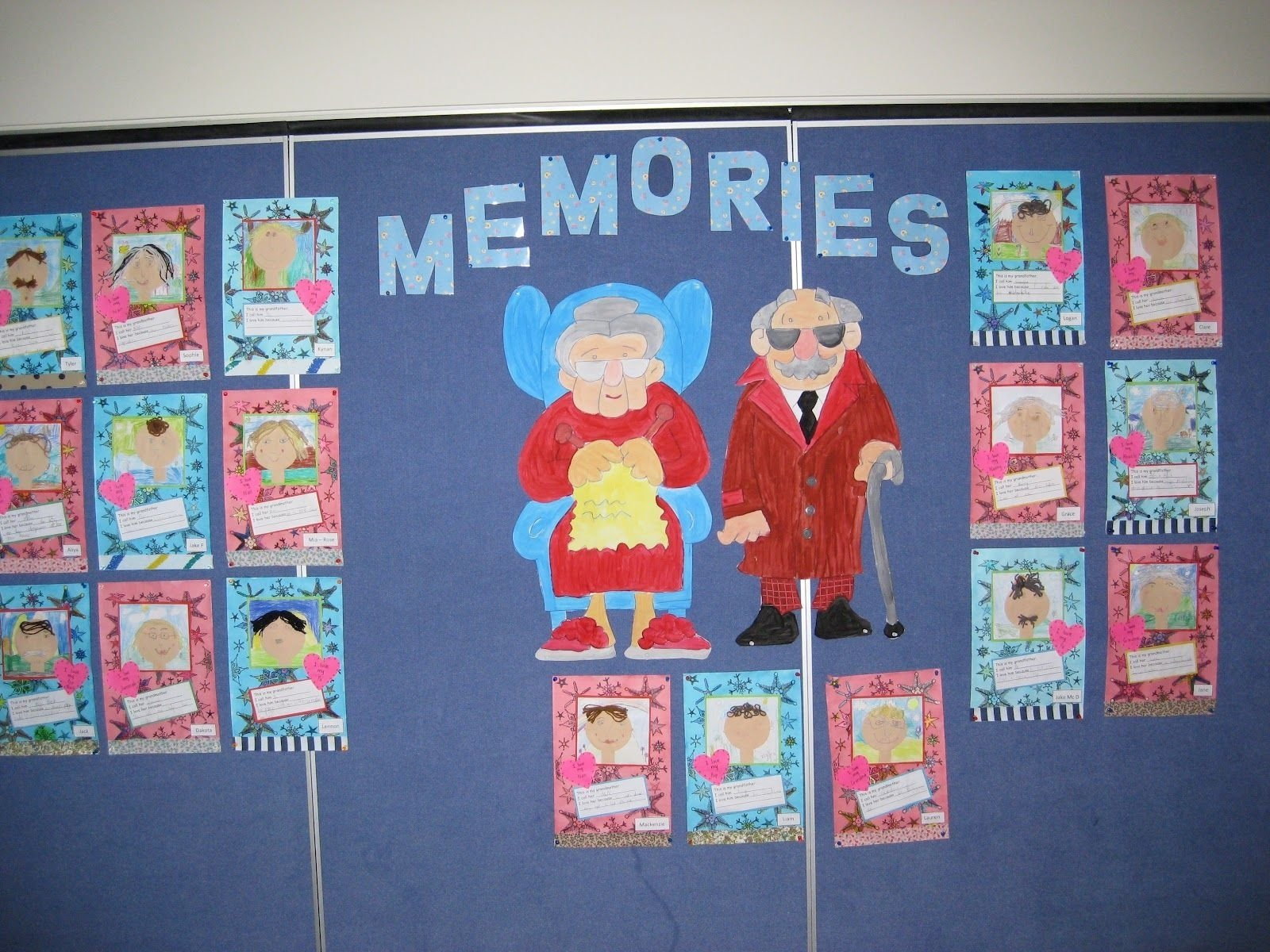 grandparents day crafts-lol badges for grandparents, draw pictures