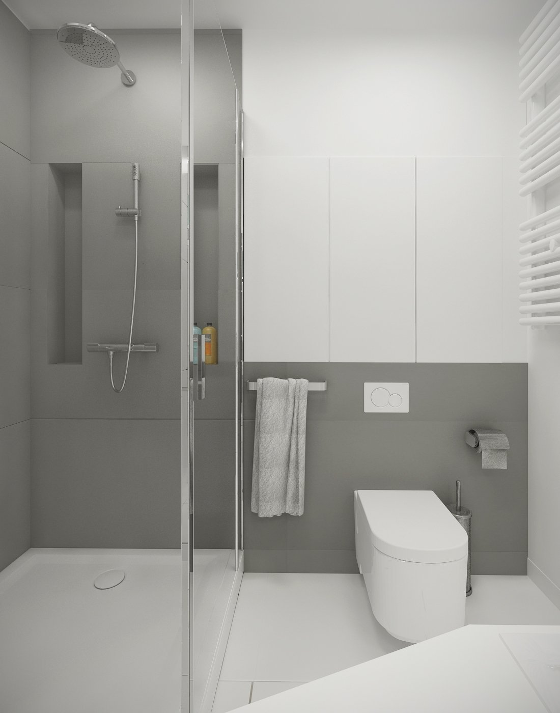 10 Lovable Gray And White Bathroom Ideas gray and white bathroom ideas grey and white bathroom ideas uk 2020
