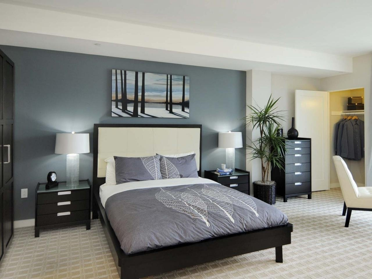 10 Perfect Grey And Blue Bedroom Ideas