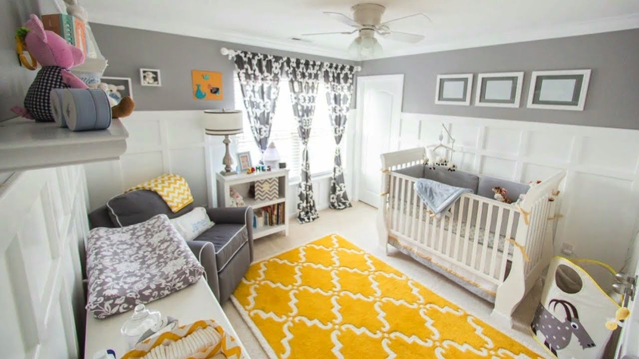 10 Fashionable Yellow And Gray Nursery Ideas gray yellow for a gender neutral nursery youtube 2020
