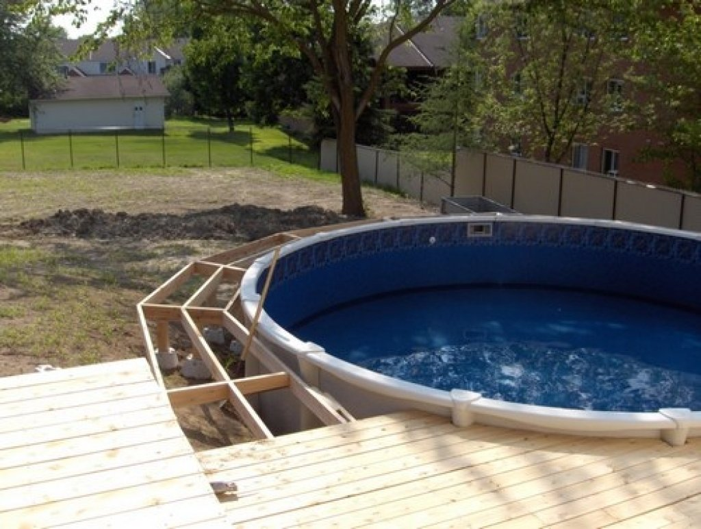 10 Pretty Above Ground Pool Deck Ideas Pictures great above ground pool deck plans from deck designs above home