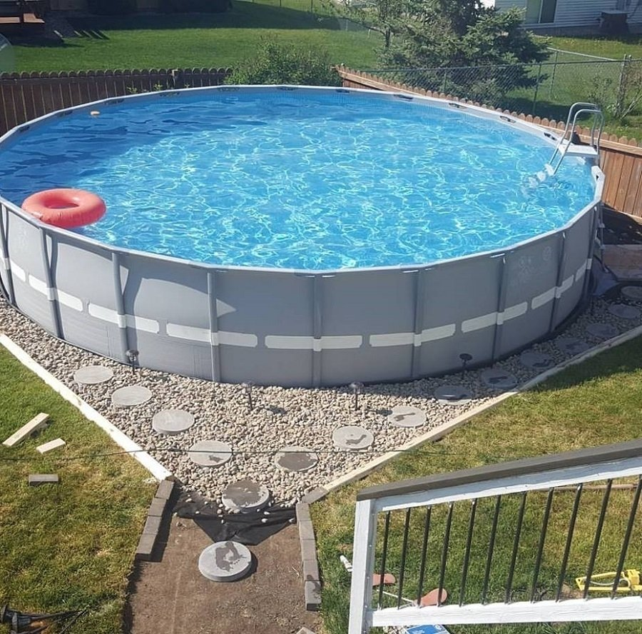 great above ground pool landscaping — stylid homes : above ground