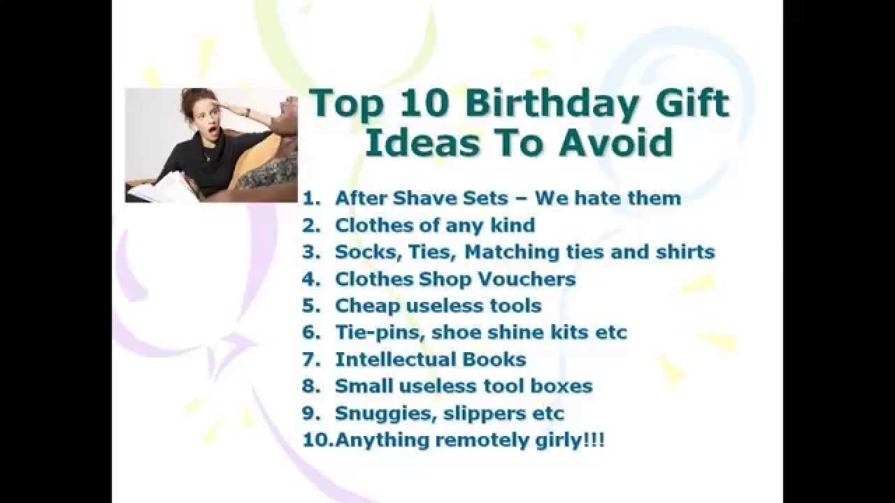 great birthday gift ideas for men - youtube