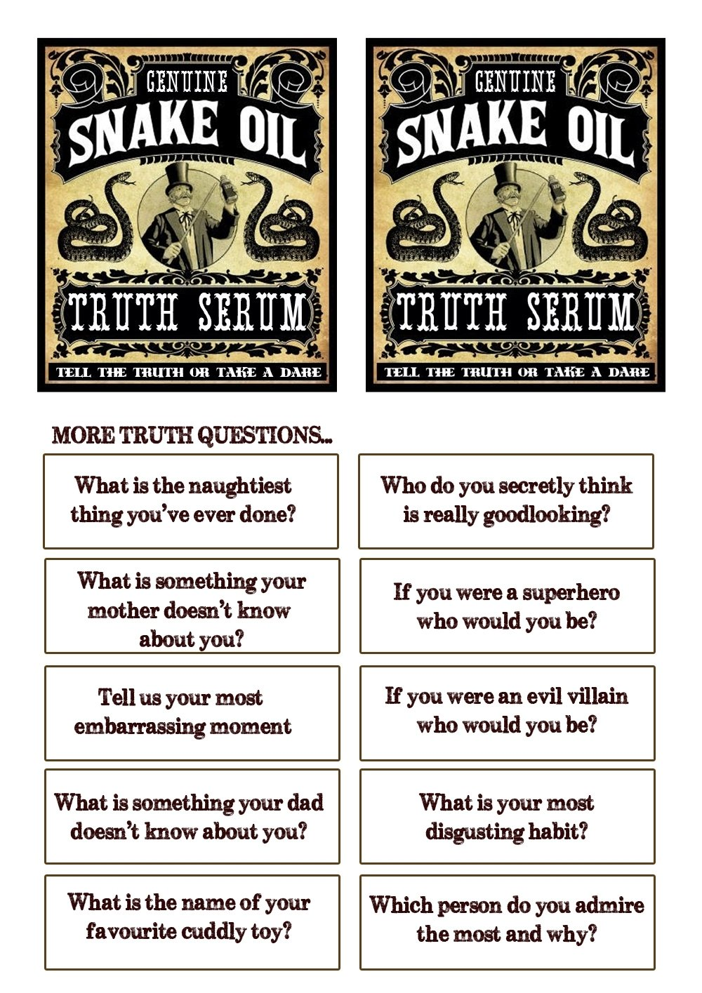 10 Ideal Dare Ideas For Truth Or Dare great fun etc family fun cowboy cookout with truth or dare 1 2020