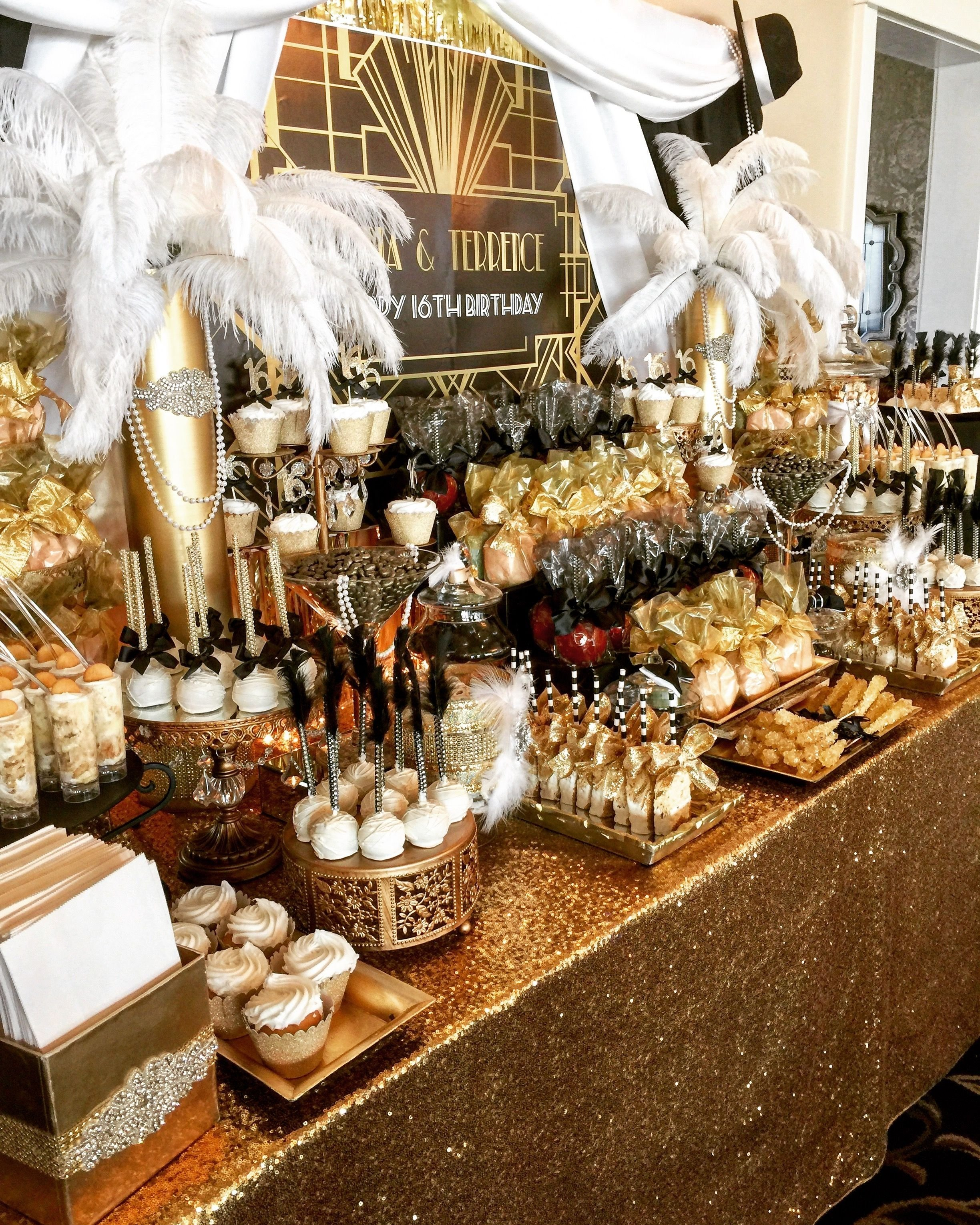10 Fashionable The Great Gatsby Party Ideas great gatsby candy buffet themed wedding ideas pinterest 1 2020